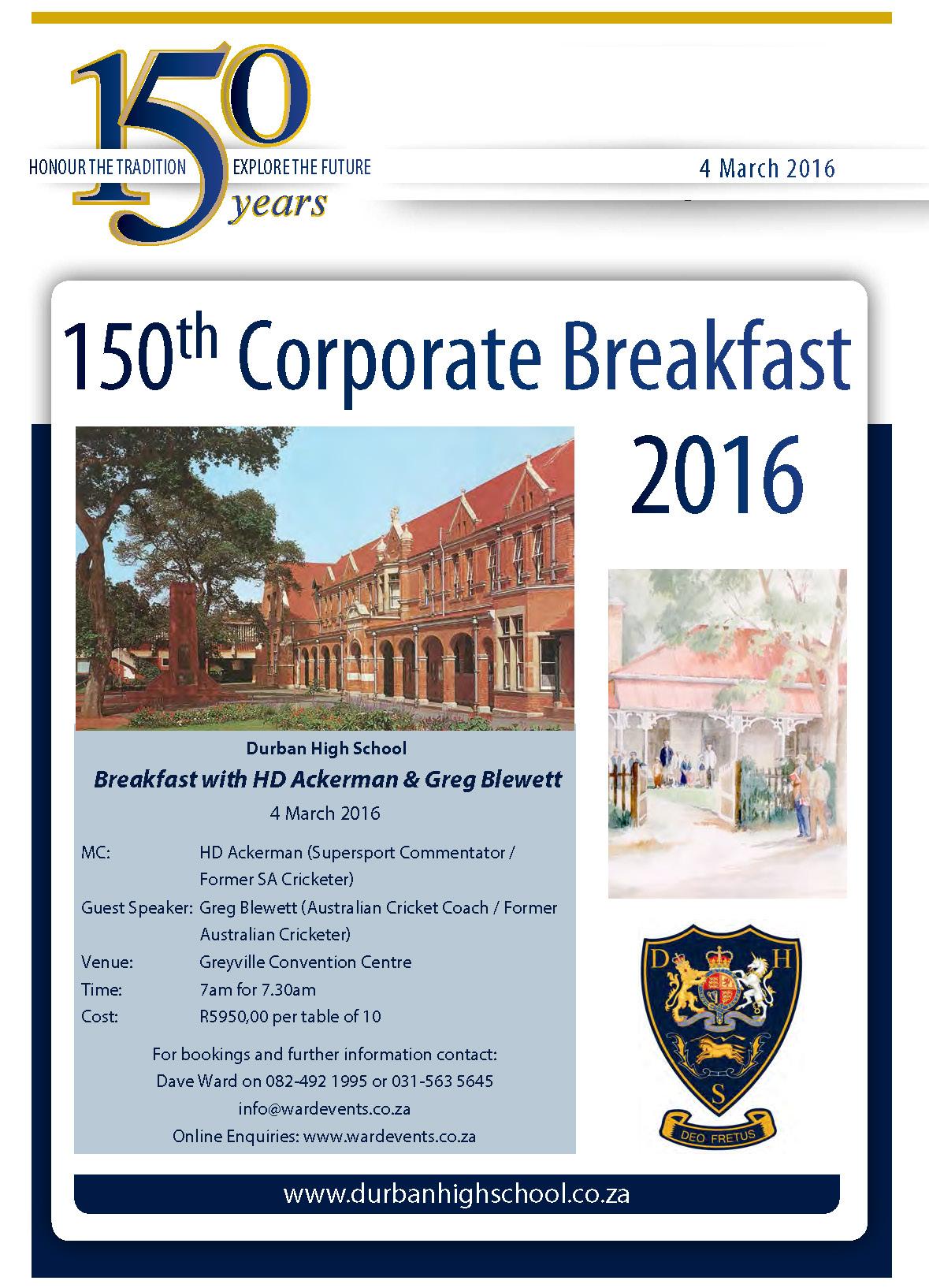 150th Corporate Breakfast