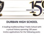 Vacancies at DHS : Music Director and Foundation Director