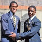 Phendulani Buthelezi (Head Prefect for 2017) and Mvumeleni Mathenjwa (Head Prefect 2016)