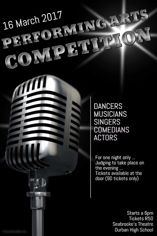 Performing Arts Competition Poster
