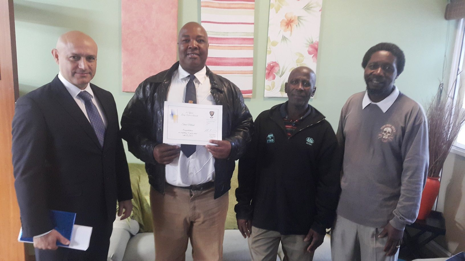 Three Staff members acknowledged for long service