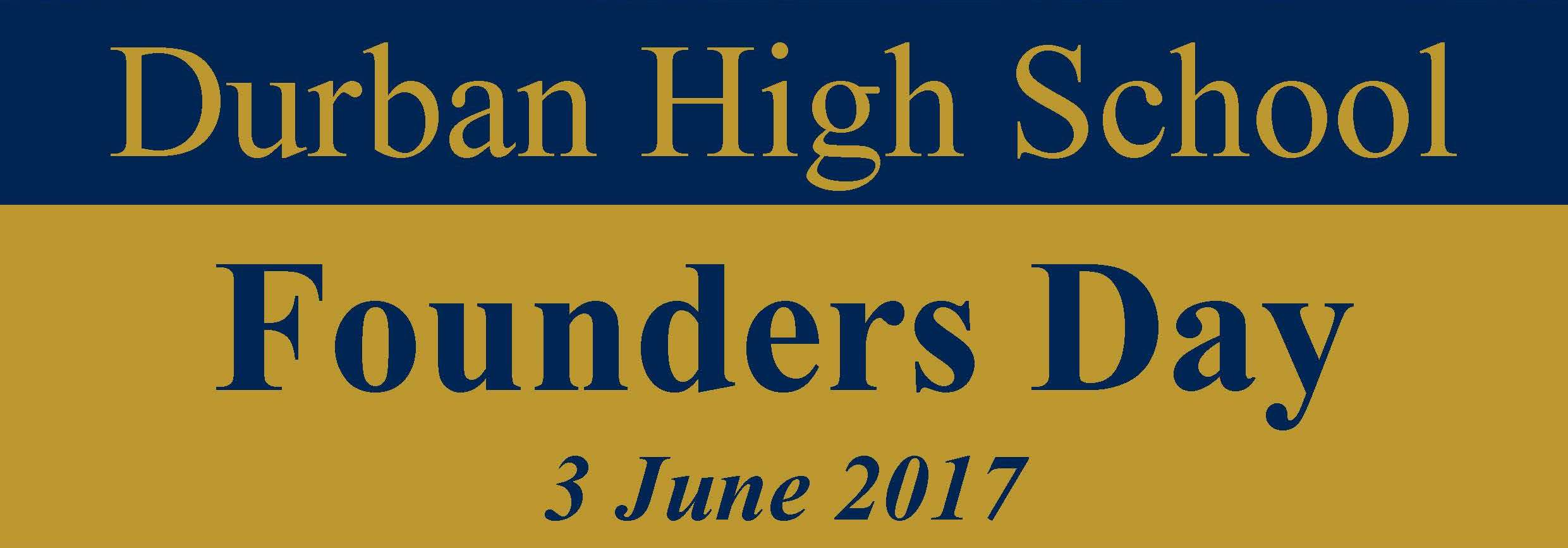 Founders Day : 3 June 2017