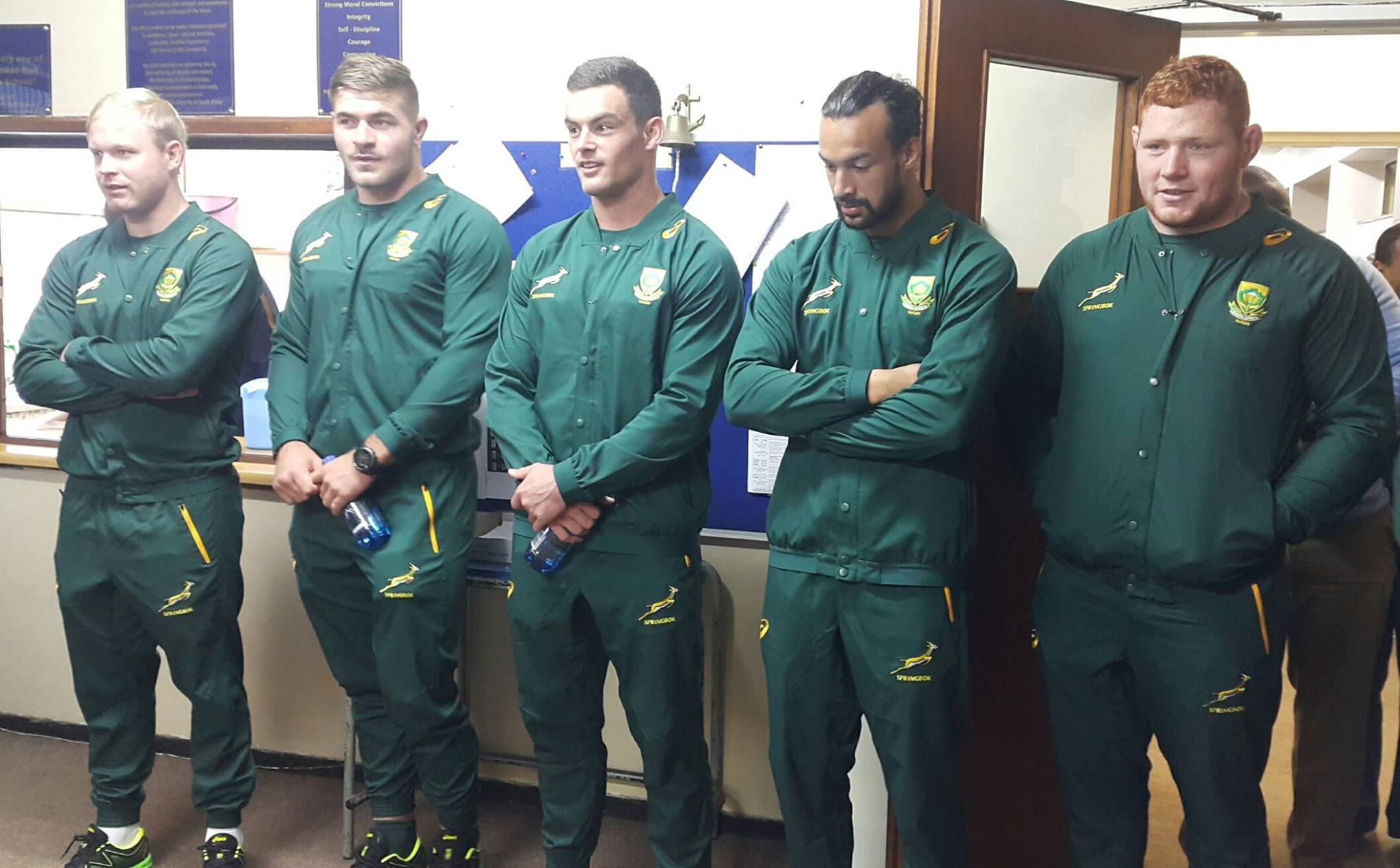 DHS receive Surprise Visit from the Springboks!