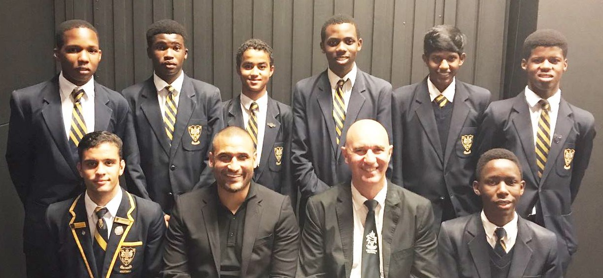 KZN Soccer Representatives with Delron Buckley