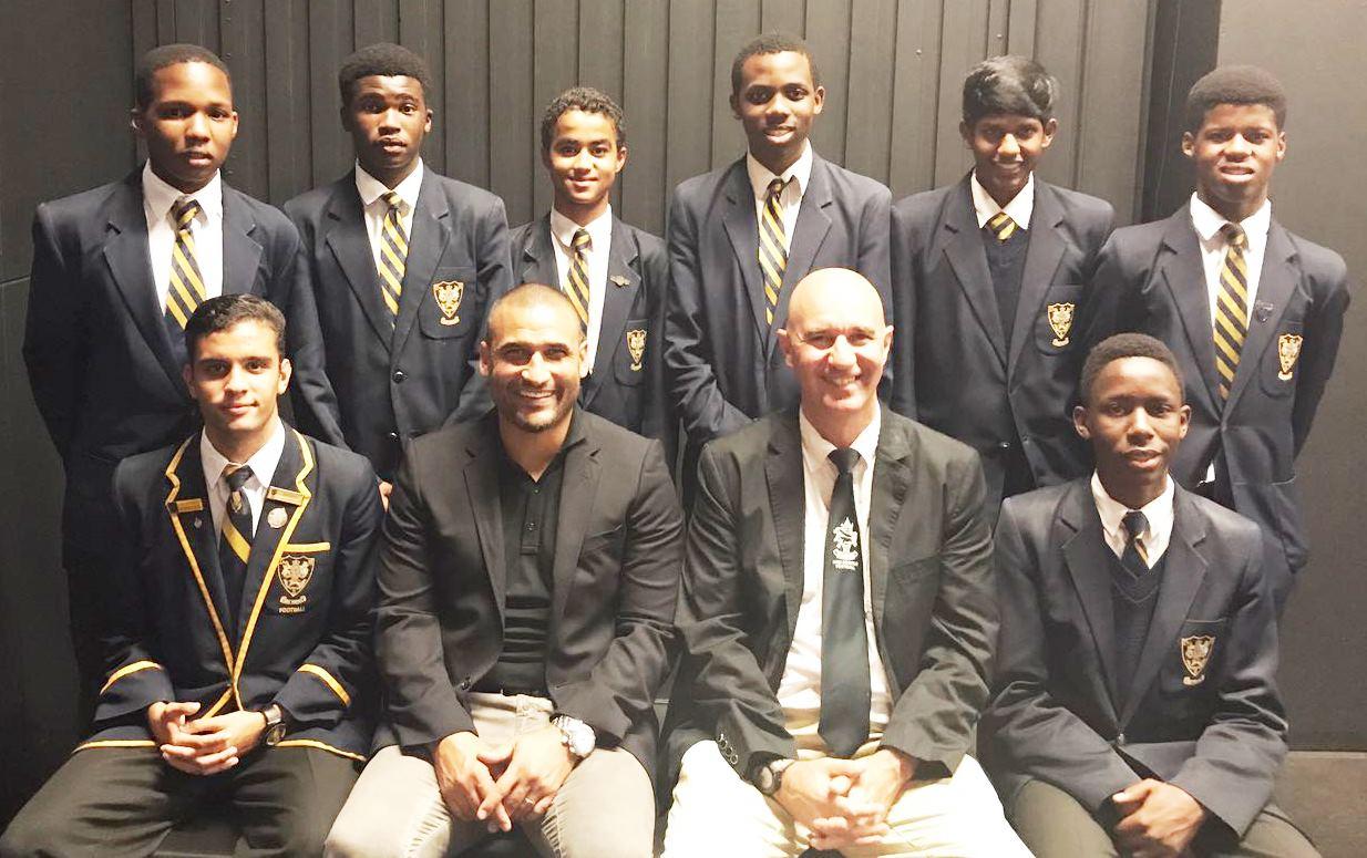 KZN Soccer Representatives with Delron Buckley
