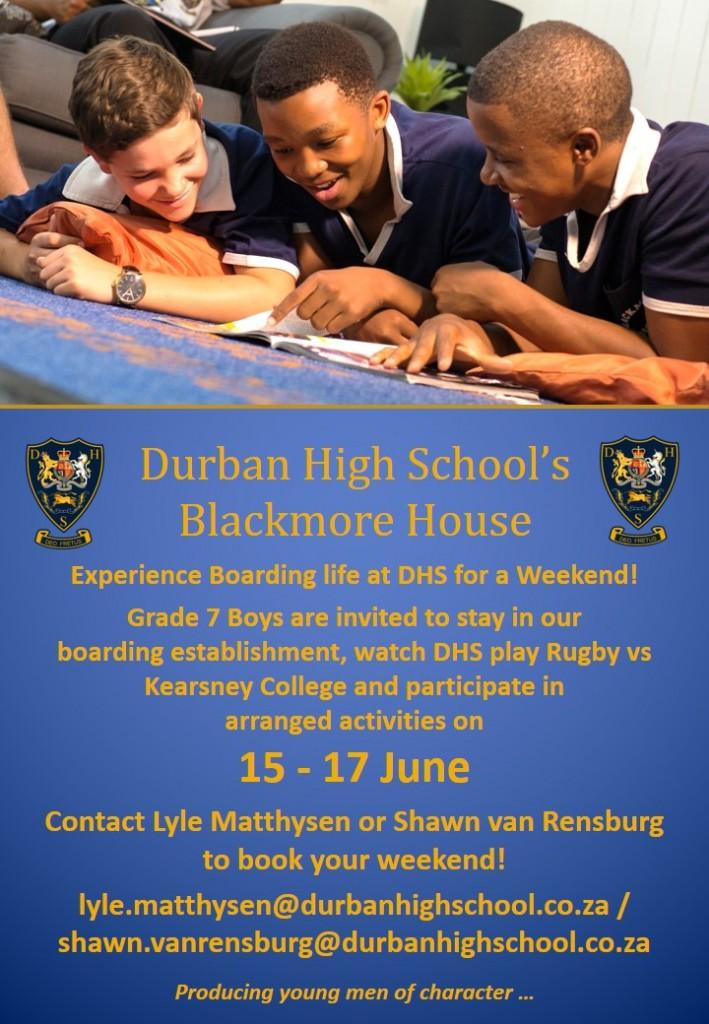 Blackmore Boarding Weekend 15 to 17 June