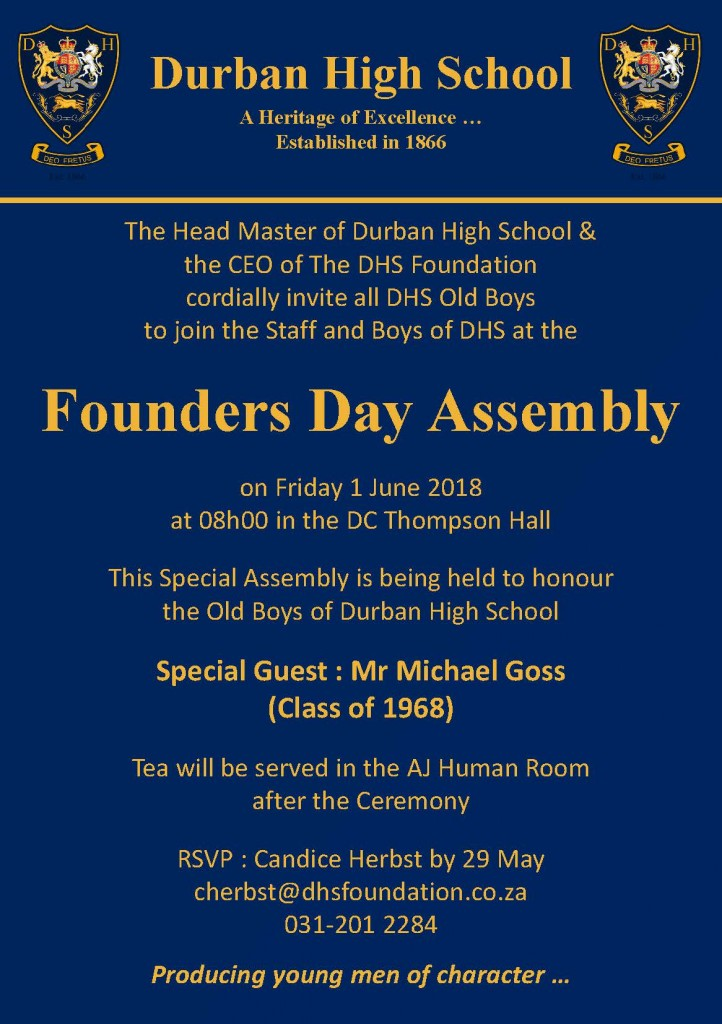 Founders Day Assembly Invitation 2018 Final
