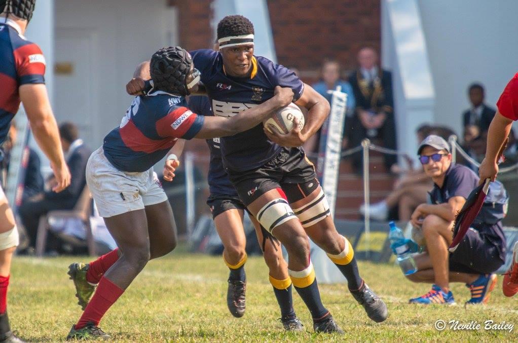 Captain Celimpilo Gumede in action