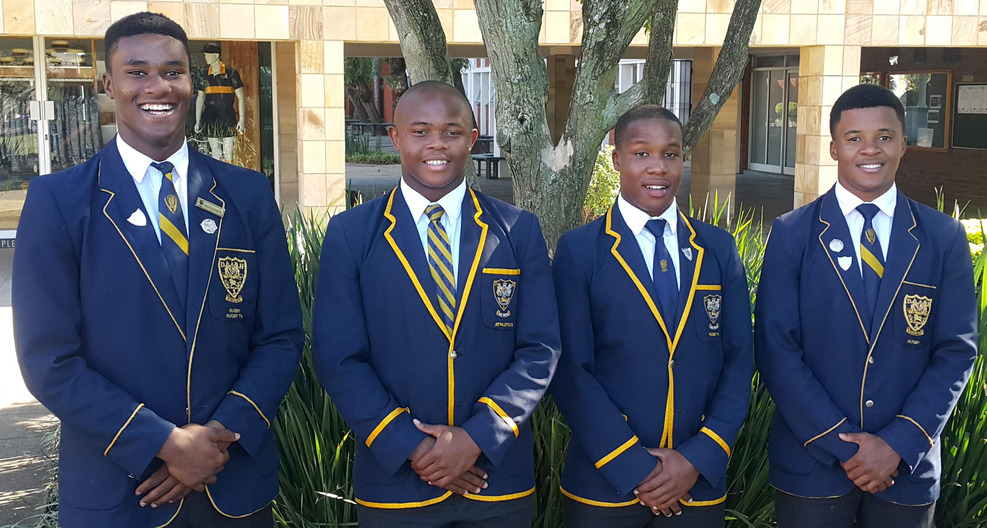 KZN U18 Craven Rugby Celimpilo Gumede, Mthokozisi Gumede, Asande Mnguni and Lwandile Menze