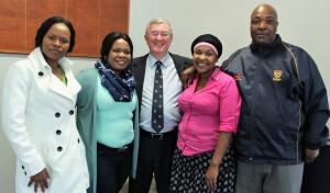 Mr Human with his loyal Support Staff, Ms Zukulu, Ms Luthuli, Ms Majozi and Mr Mtshali