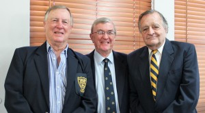 Mr AJ Human with two of his Head Masters, Mr IT Bennison (left) and Mr RD Forde