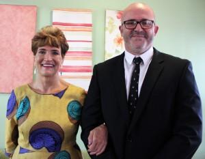 Mrs Els with Mr van der Merwe