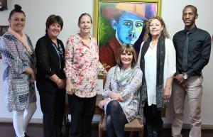 Mrs Gray (seated) with her Finance team, Mrs Dicks, Mrs Coetzee, Mrs Downham, Mrs Poole and Mr Tembe