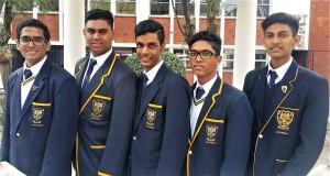 Grade 12 (from right): Mahil Dessai, Neeven Naidoo, Theolin Govender, David Moodley, Dhishant Hariram