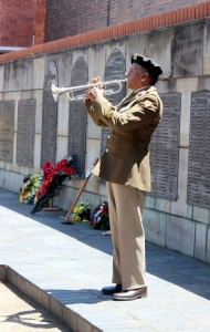 Trumpeter, Sergeant-Major Joseph, plays the Last Post