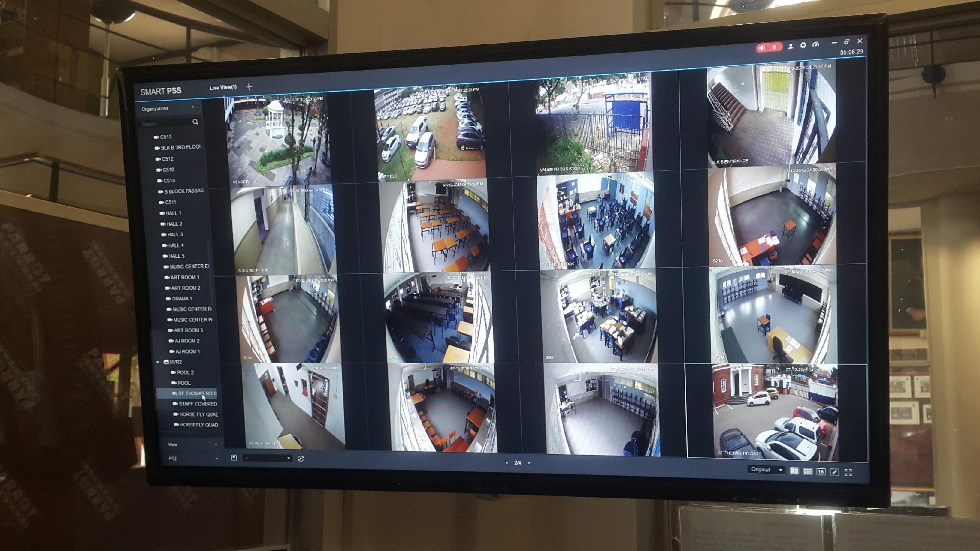 The CCTV cameras