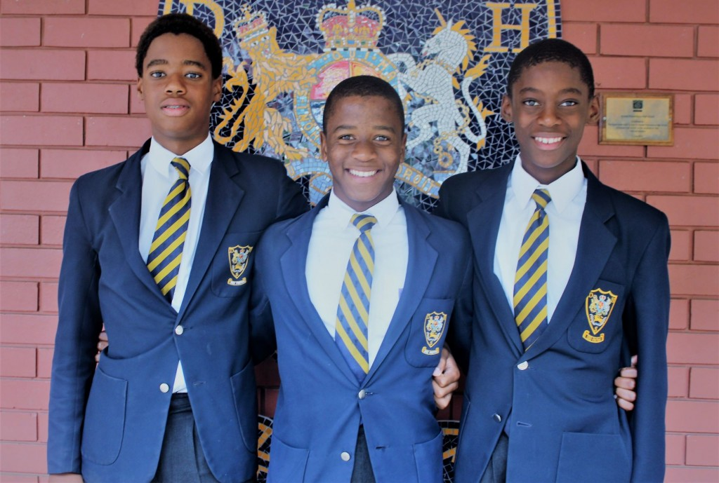 SA Swimming and Water Polo Representatives From left: Thapelo Rampholi, Casper Mlaba and Awande Nkunzi