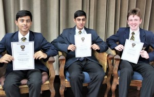 Top 3 in Grade 9 Cambridge! Naseem Essa (1st), Sharik Ramjee (2nd) and Nathan del Fava (3rd)