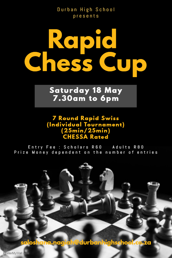 Rapid Chess Cup Poster 2019
