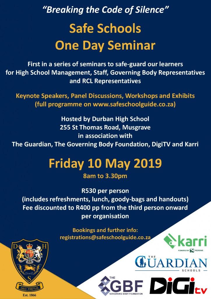 Safe Schools Seminar Flyer Final