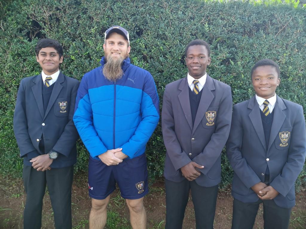 U16 KZN Coastals Sachin Soni, Mr Michael Baker, Bagcine Gqweta, Othembayo Ndondo