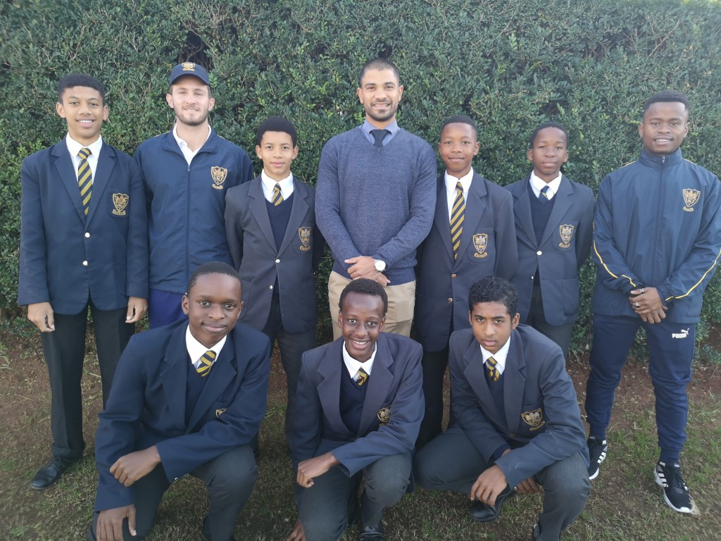 U14 KZN Coastals Keelan Henry, Mr Tanner Bottomley, Aldridge Maasdorp, Mr Jason Flanagan, Lulonke Gono, Lerou Ditlhakanyane, Mr Tiny Nxumalo, Front-  Andile Mbambo, Sduduzo Zondi, Liam Ruiters
