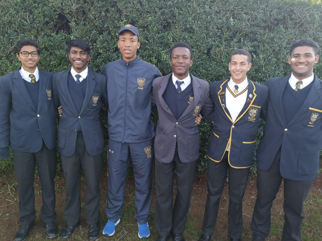 U18 KZN Coastals Usama Ghuman, Sholin Naicker, Mr Harold Siyaya, Khaye Hlomuka, Eli Louis, Joshua Winnaar