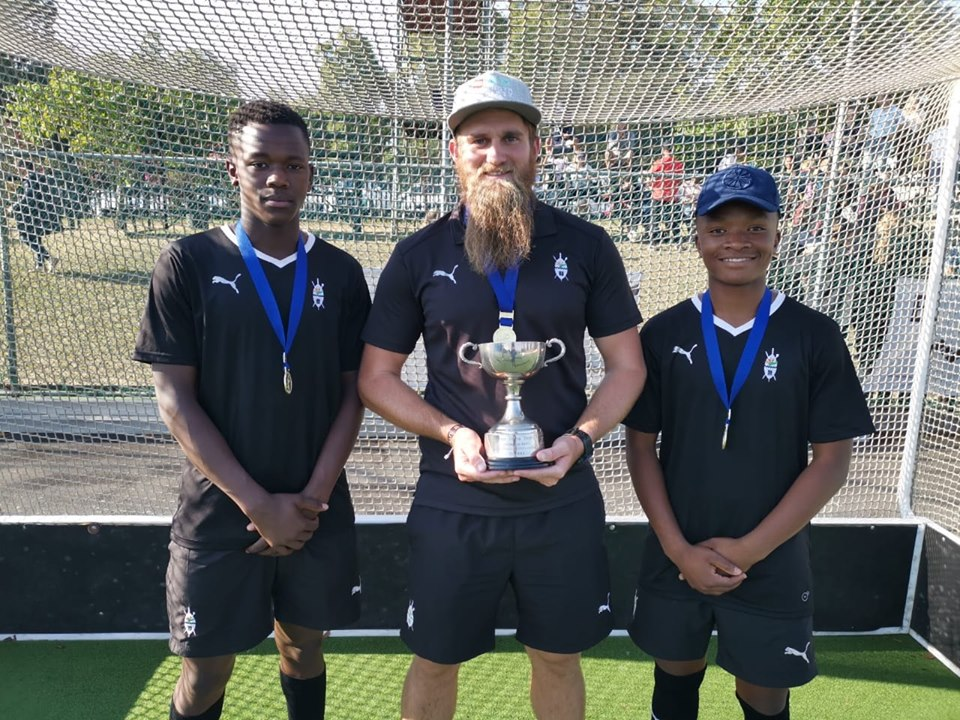 U16A KZN Coastals Bagcine Gqweta, Mr Michale Baker and Othemboyo Ndondo win gold