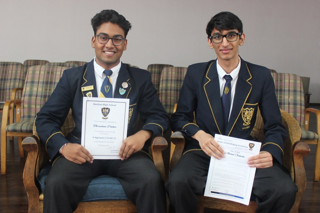 2nd and 3rd in the Grade, Abdul Osman (right) and Thirushan Pather