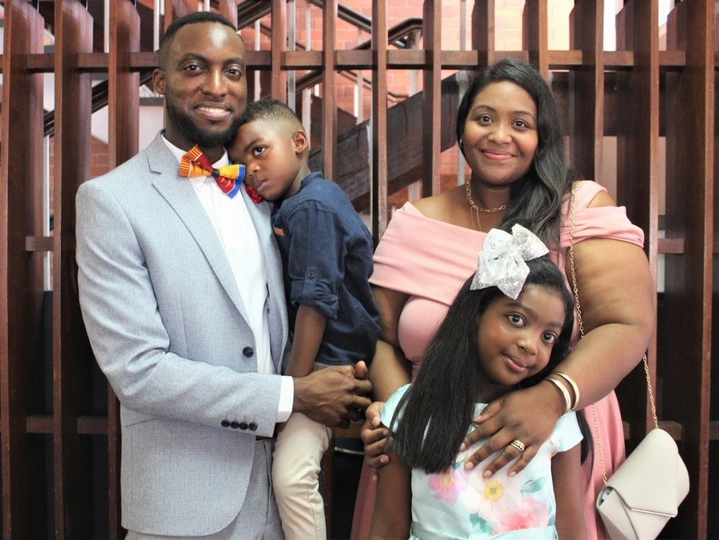 Guest Speaker, Dr Kwame Adu Acheaw, and his family