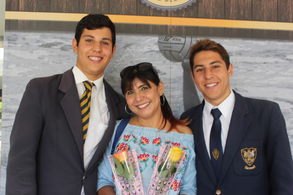 Proud Mom Ms Razina Meer with her sons Daniel and Mikail Kreuzer who both were both prize winners at the ceremony