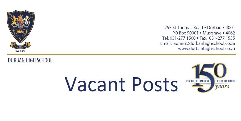 Vacant Post @ Durban High School
