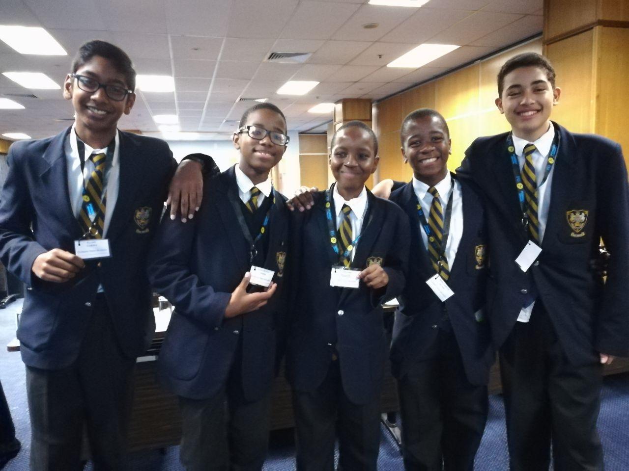 Elijah Chetty, Lindo Myeni, Vuthlhari Mabasa, Sabelo Mlaba and Ethan Cloete