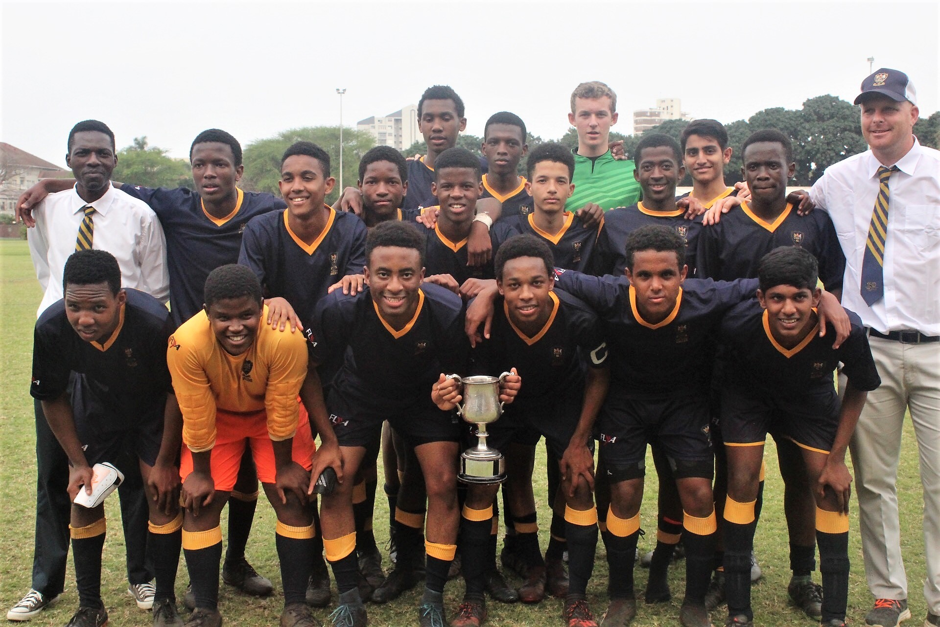 1st XI Football win the Raw Cup!