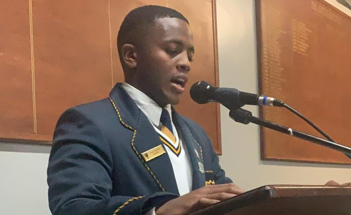 Head Prefect for 2019, Xhanti Njokweni